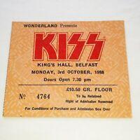 Kiss vintage rare 1988 concert ticket kings hall Belfast Band memorabilia rare