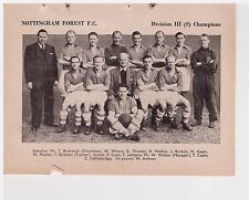 Team Pic from 1951-52 FOOTBALL Annual - NOTTINGHAM FOREST + ROTHERHAM UNITED