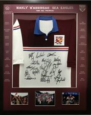 Blazed In Glory - Manly Warringah 1996 Premiers - NRL Signed & Framed Jersey