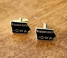 Vintage SIOUX CITY, IOWA Gold Plated Cuff Links