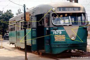 DC Transit CTC PCC 1579  Rte 82 Branchville loop Washingt  35mm Ektachrome Slide
