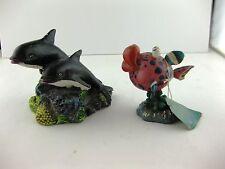 Fish Tank Aquarium Decor Spot Brand Whimsical Fish BRPP Dolphins 1995 NOS