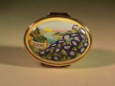 Halcyon Days Enamels Trinket Box 2000 Signed Janice Morgan Nov. 5, 1999