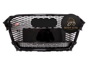 Audi RS4 Style Honeycomb Grille All Black For A4 B8.5