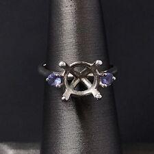 Platinum Engagement Ring Setting for  2.5 - 3 Carat Round Diamond