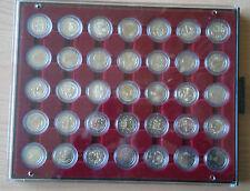 2 Euro Sondermünzen in Kapseln 35 Stück NEU