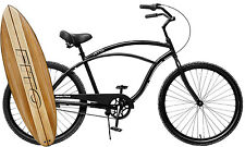 Fito Marina Aluminum 3-speed - Matte Black, Light Weight Mans Beach Cruiser Bike
