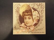 Allen's Root Beer Extract C.E. Carter- Pharmacist Victorian Trade Card