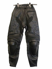 """IXS MENS LEATHER ARMOURED MOTORBIKE TROUSERS SIZE 34 / 24"""" - 26""""(94)"""