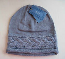 NWT Vera Wang Knit Braided Winter Hat, Light Purple Grey, Rolled Edge, $24 MSRP