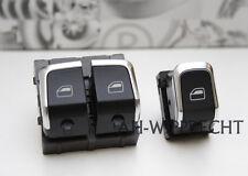 Audi Tuning Chrom Fensterheber Schalter Alu S-Line RS5 S5 A5 8T Coupe 2x Set OEM