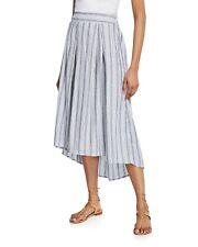 Max Studio High Low Striped Skirt Size Medium $78 - NWT