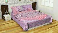 Indian Pink Ombre Mandala Quilt Duvet Cover Bedding Cotton Doona Cover Set Throw