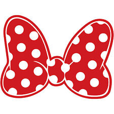 "Minnie Mouse Polka Dot Bow 3"" Disney Decal Sticker Vinyl Walt Land World"