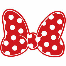 "Minnie Mouse Polka Dot Bow 6"" Disney Decal Sticker Vinyl Walt Land World"