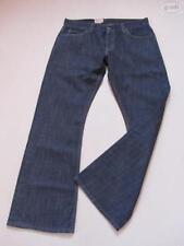 Indigo -/dark-washed Herren-Jeans mit mittlerer Bundhöhe Hosengröße W38