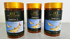 Omega 3 Fish Oil with Vitamin E 1000mg 365 Capsules (3 Pack) by Body & Health