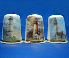 Birchcroft Thimbles -- Set of Three -- Lighthouses no 1