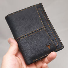 Leather Wallets For Mens Credit Card Wallet Vintage Zipper Coin Pocket Purse