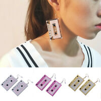 Vintage Acrylic Tape Ear Stud Earrings Drop Dangle Earrings Women Charm Jewe ST