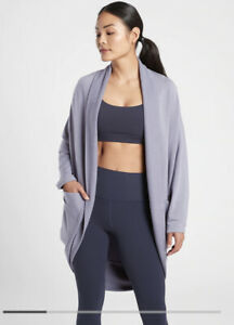 New! Athleta Ethereal Cocoon Wrap Tempest Violet SIZE Small/Medium #980125