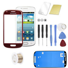Samsung Galaxy S3 mini i8190 i8200 ROT RED Glas Scheibe Front Display SET