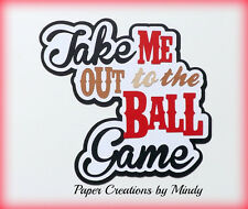 CRAFTECAFE MINDY BASEBALL SPORTS DIECUT premade paper piecing TITLE scrapbook