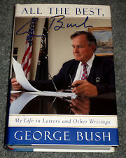 GEORGE H.W. BUSH Signed Autographed 'All the Best' Hardcover Book bookplate 41