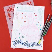 Journal Painting Template Girls Plastic Stencils Scrapbooking Hollow Ruler