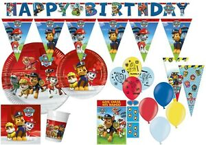 PAW PATROL Tableware Party Decorations Birthday Supplies