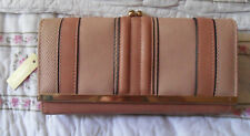 NWT ACCESSORIZE Old Rose Striped WALLET / CLUTCH, Coin Purse. Smart Phone Holder