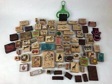 75 Pieces Rubber Stamp Lot Assorted Farm Christmas Quotes Fish +++ FSTSHP