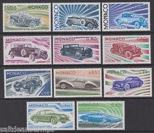 MONACO - 1975 STORIA DELL' AUTOMOBILE (11V) UM / MNH