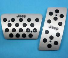 AT Aluminum Foot Pedal Plate Break Gas For Jeep Wrangler JK 2007-2015 Automatic