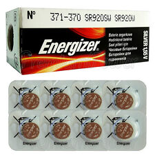 8 x Energizer Silver Oxide 371/370 batteries 1.55V SR69 SR920W Watch EXP:2020