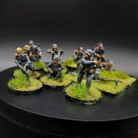 Painted 28mm Bolt Action german lufftwaffe field division squad #3 ×10 men Ww2