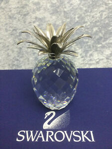 Swarovski Large Rhodium Pineapple Smooth Leaf 7507105002RHOD. Retired 1986. MIB