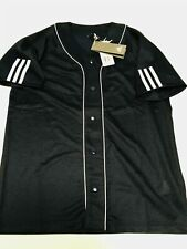 ADIDAS S/S Button-Down-Front Sport Jersey Mens sz S Small Mesh Shirt NEW NWT