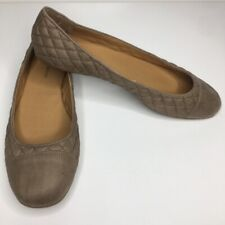Lucky Brand Brenley Ballet Flats Tan Quilted Womens Size 12 Round Toe New
