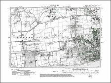 Worthing W, Broadwater W, Goring by Sea, old map Sussex 1913: 64SW repro