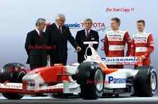 Mika Salo & Allan McNish Toyota TF102 F1 Launch 2002 Photograph 1