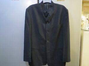 "Mens Burtons ""Peter Pan Collar"" Black Pin Strip Jacket - Size 44"" Chest"