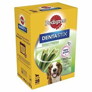 Pedigree DentaStix Daily Fresh Triple Action Medium Dogs 10-25 kg, 28 Sticks