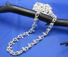 Handmade Sterling Silver 6mm Nautical Shackle Mariners Link Necklace Chain