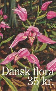 ENDANGERED PLANT SPECIES 1990 - BOOKLET OF 10 x 3.50kr ORCHID STAMPS