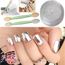 Mirror Chrome Glitter Shine Effect Nails Decoration Pigment Dust Powder Silver
