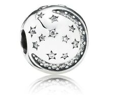 New Authentic Pandora Sterling Silver Twinkling Night Clip Charm 791386CZ