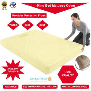 Bed Plastic Mattress Protector SINGLE, QUEEN, KING Covers Moving Storage Bag