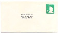 1968 US Embossed (6 cent) Stamp Cover/Envelop.Head of Statue Liberty # U107/U551