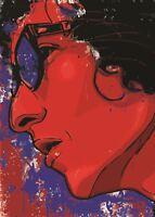 BOB DYLAN FOLK MUSIC ICON POSTER PICTURE WALL ART PRINT A3 AMK2346